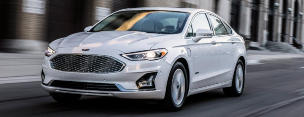 2020 Ford Fusion on road