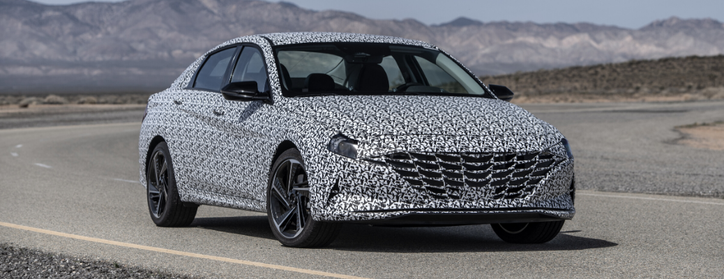 2021 Hyundai Elantra N Line covered in black and white camouflage