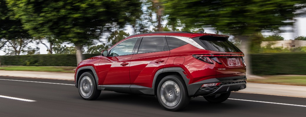 Red 2022 Hyundai Tucson