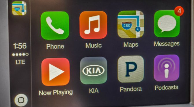 kia optima apple carplay monitor