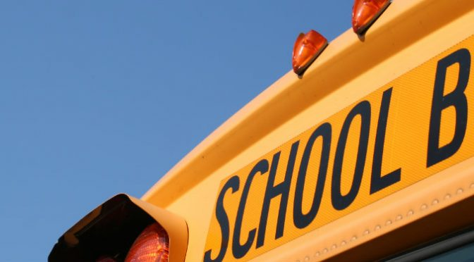 front end of school bus