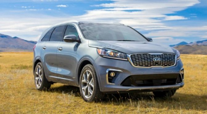 2020 Kia Sorento in field from exterior front passenger side
