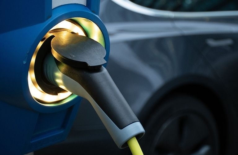 Image of an electric vehicle charging