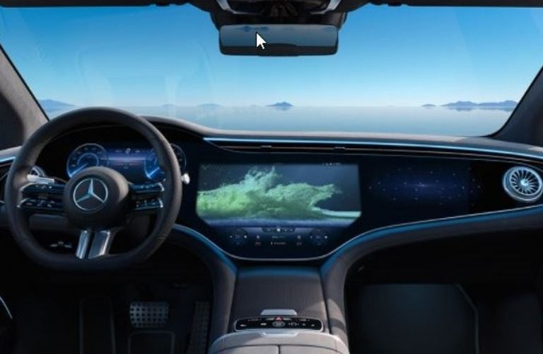 Dashboard of the all new 2022 Mercedes-Benz EQS