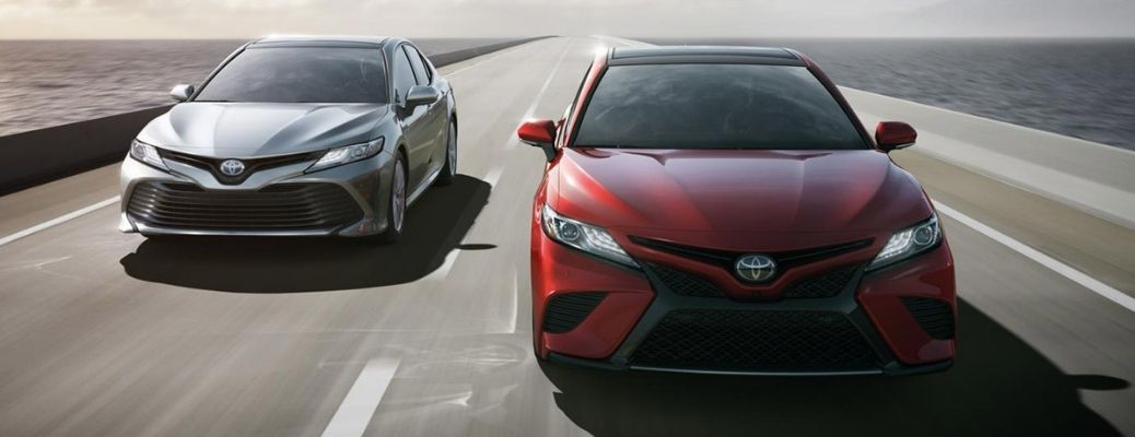 Front View of two 2018 Toyota Camry
