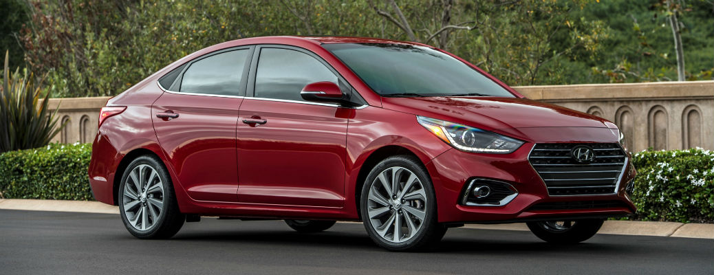Red 2021 Hyundai Accent