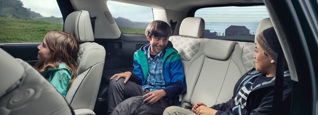 Kids in the Back of a 2021 Hyundai Palisade