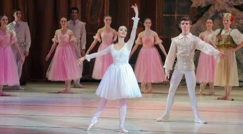 Group of people performing in ballet rendition of The Nutcracker