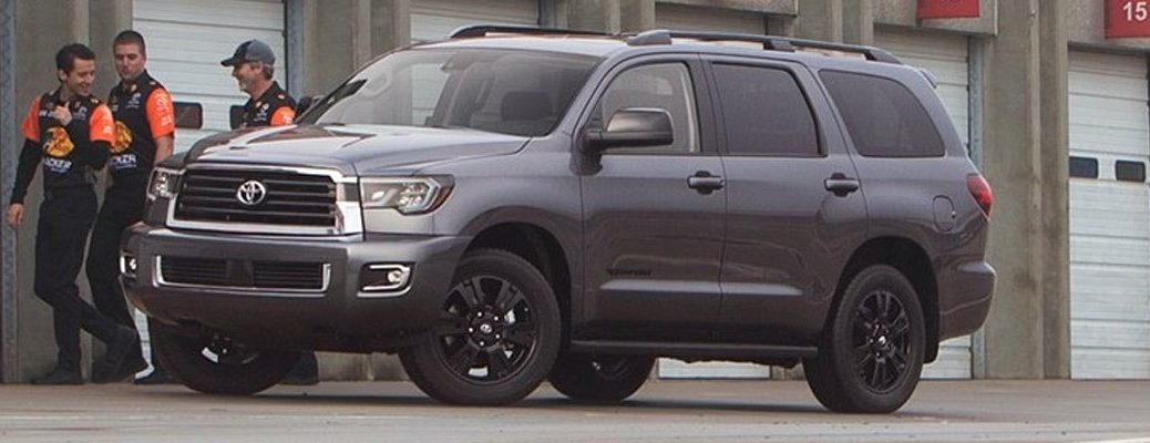 2018 Toyota Sequoia parked in racing station
