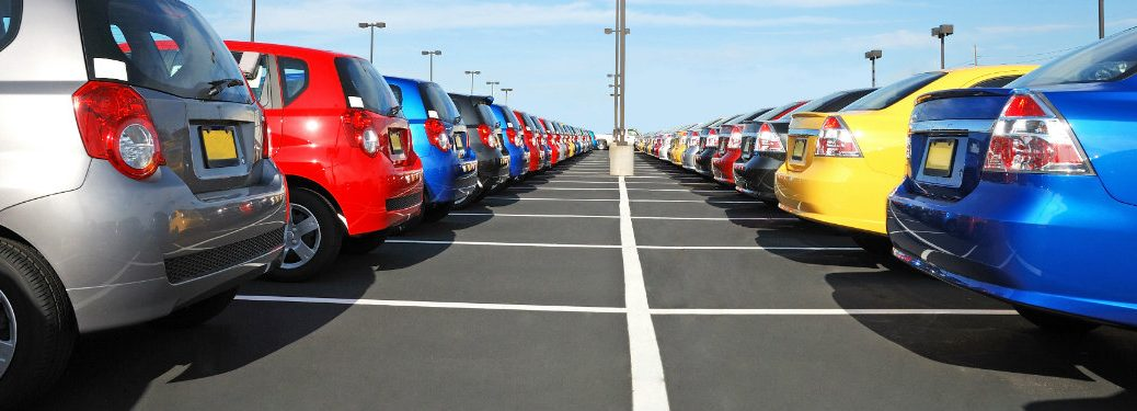colorful cars for sale in lot