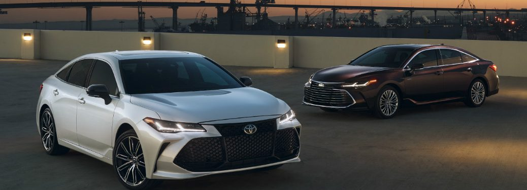 Two 2019 Toyota Avalons parked in a lot