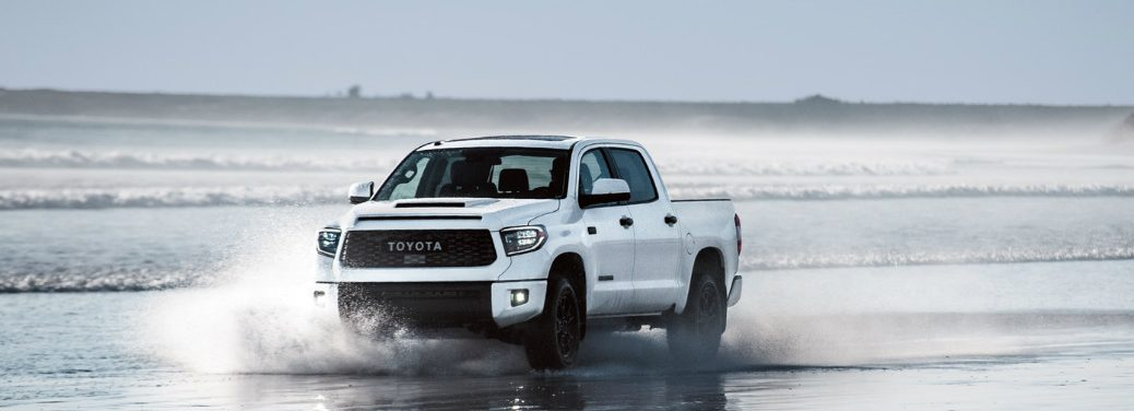 2018 Toyota Tundra driving through shallow water
