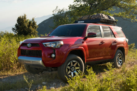 2018 Toyota 4Runner parked in the woods