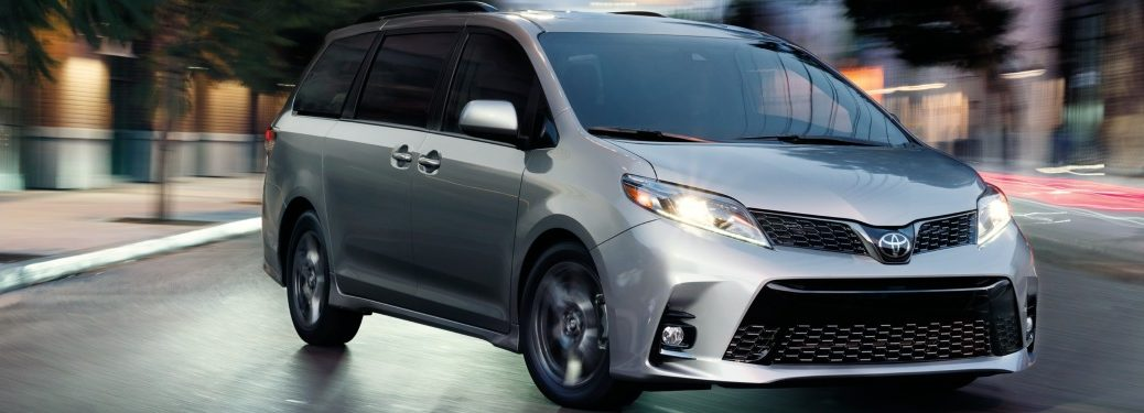 2019 Toyota Sienna making a turn on a city street