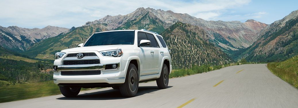 2019 Toyota 4Runner driving down a mountainous road