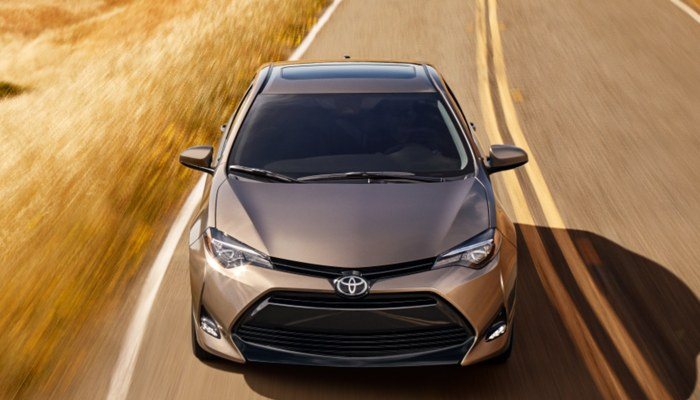 2019 Toyota Corolla driving down a highway