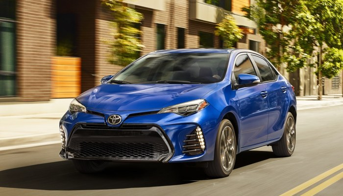 2019 Toyota Corolla driving in a city