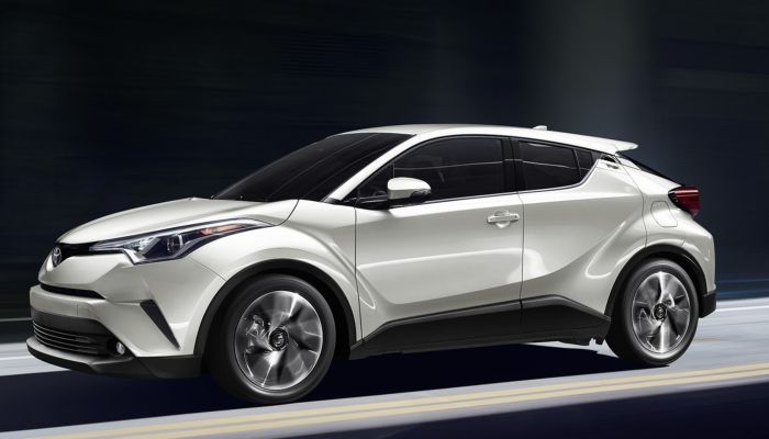 2019 Toyota C-HR driving down a tunnel