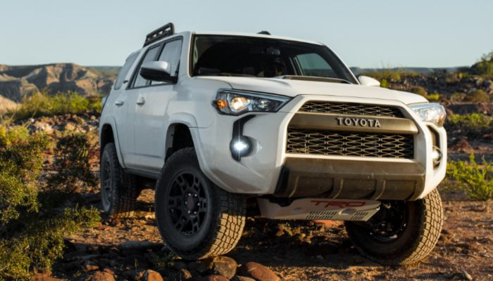 2019 Toyota 4Runner driving in a field