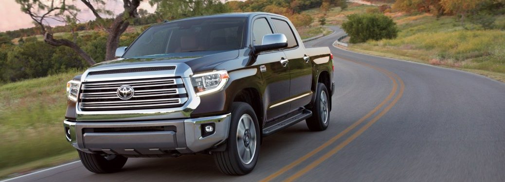 2019 Toyota Tundra driving down a rural road