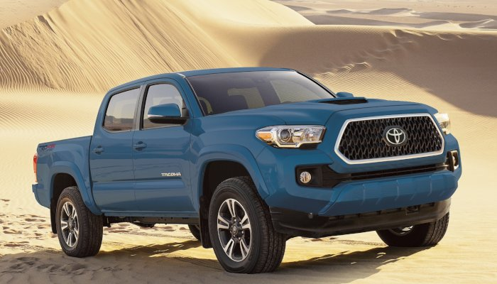 2019 Toyota Tacoma parked in the desert