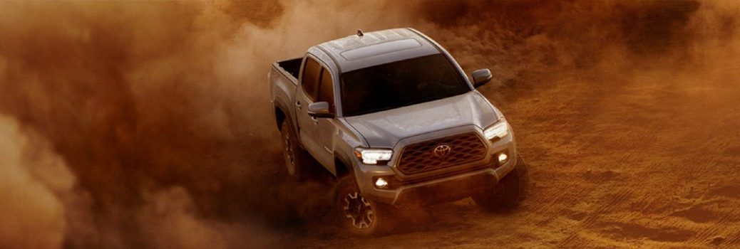 2020 toyota tacoma driving in dirt
