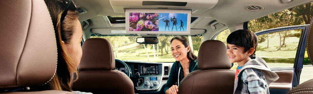 family inside the 2020 Toyota Sienna