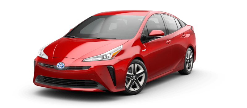 2020 Toyota Prius in supersonic red