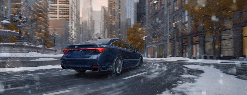 2021 Toyota Avalon driving through snow