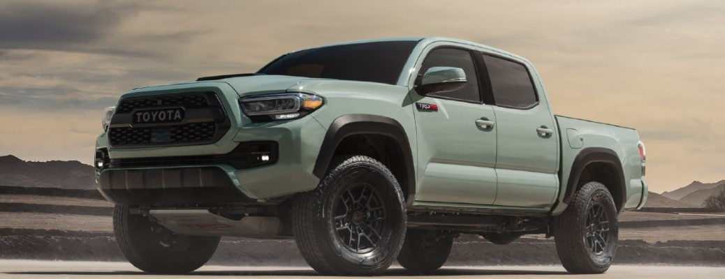 2021 Toyota Tacoma TRD Pro edition driving through dirt