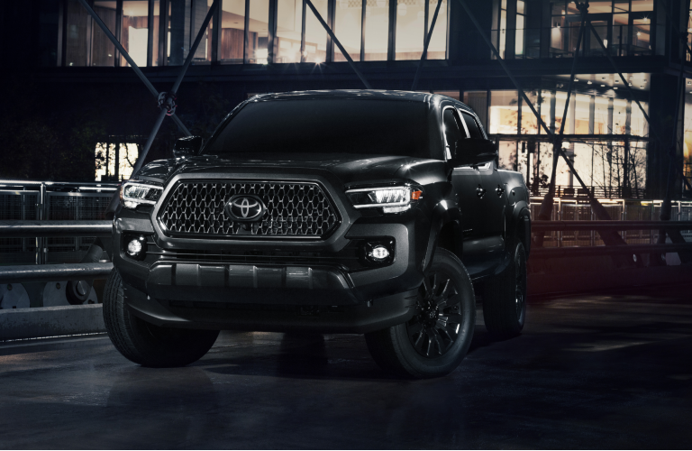 front of 2021 Toyota Tacoma nightshade edition