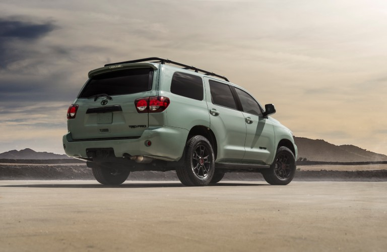 rear view of 2021 Toyota Sequoia