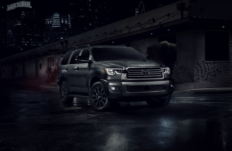 front view of the 2021 Toyota Sequoia nightshade edition