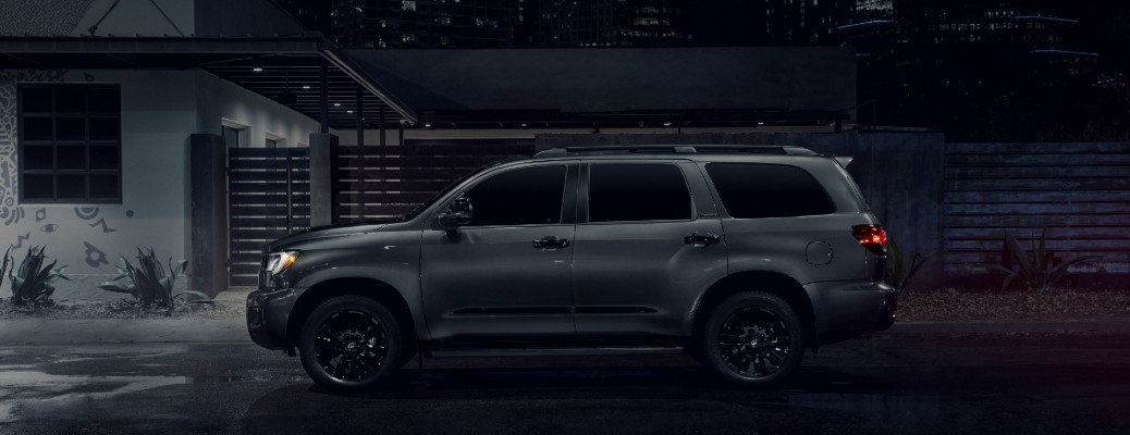 side view of the 2021 Toyota Sequoia nightshade edition