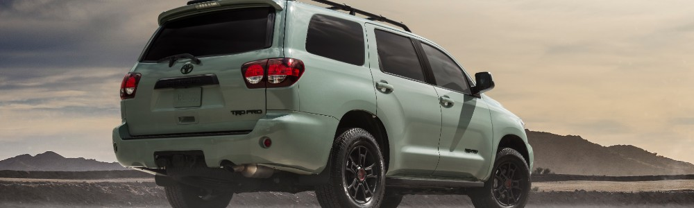 rear view of the 2021 Toyota Sequoia TRD Pro