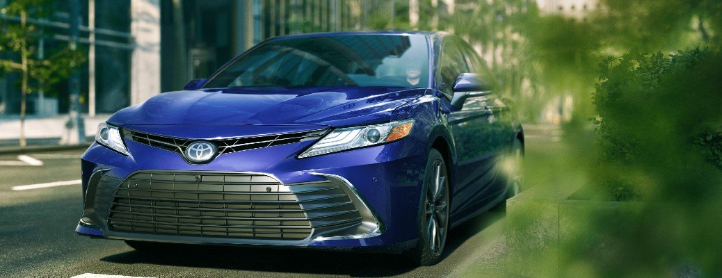 2021 Toyota Camry driving in city