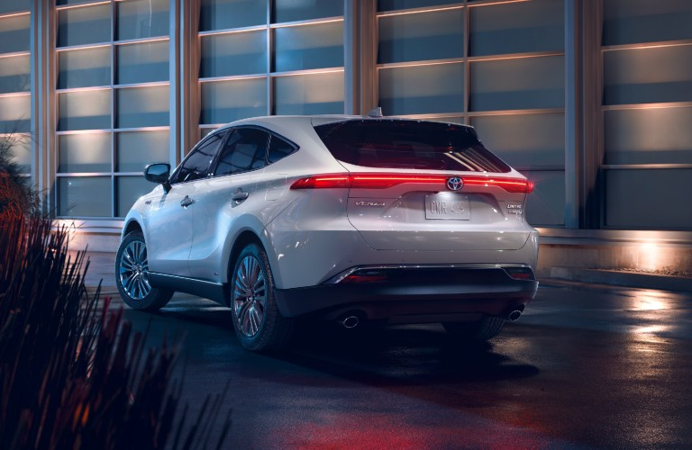 rear view of the 2021 Toyota Venza