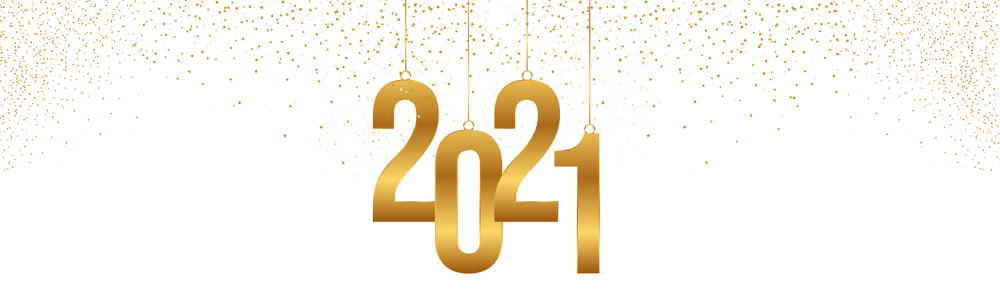 the number 2021 with glitter