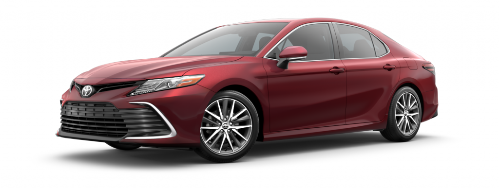 2021 Toyota Camry in ruby flare pearl