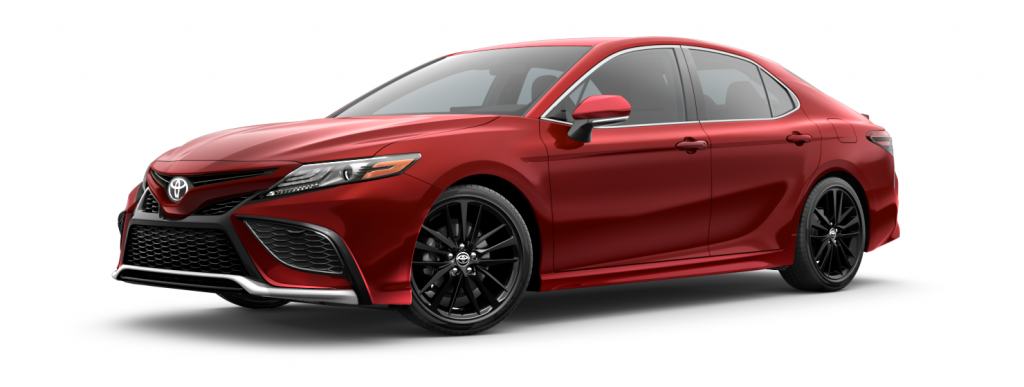 2021 Toyota Camry in supersonic red