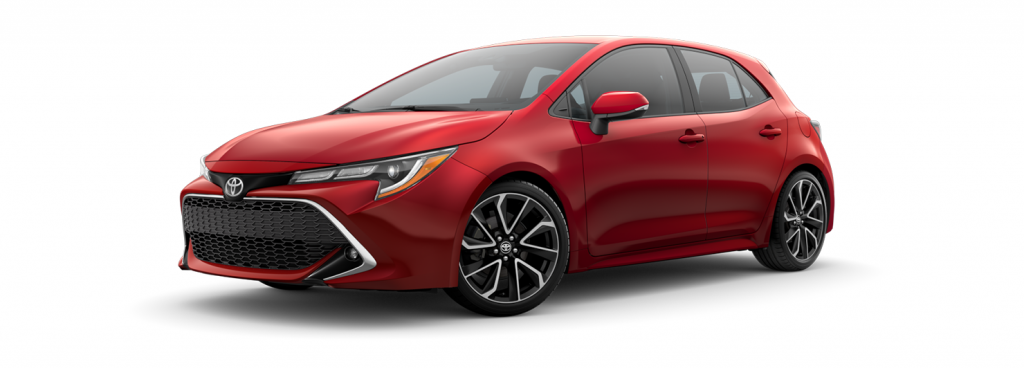 2021 Toyota Corolla Hatchback in supersonic red