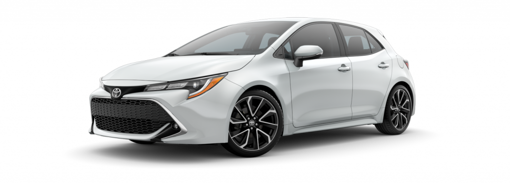 2021 Toyota Corolla Hatchback in wind chill pearl