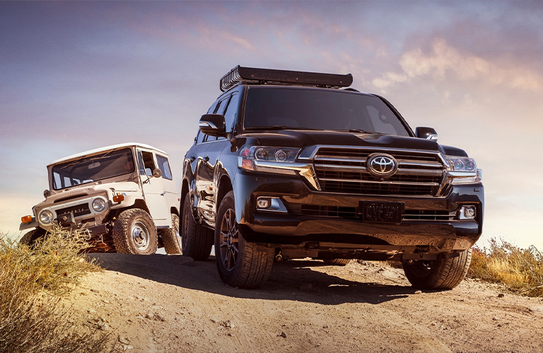 2021 Toyota Land Cruiser driving over dirt road