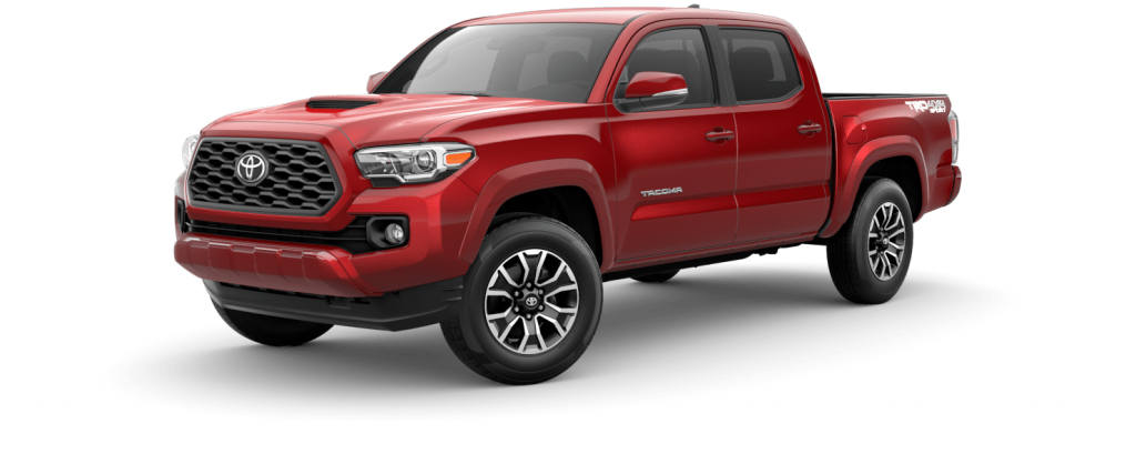2021 Toyota Tacoma in barcelona red