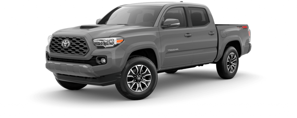 2021 Toyota Tacoma in cement