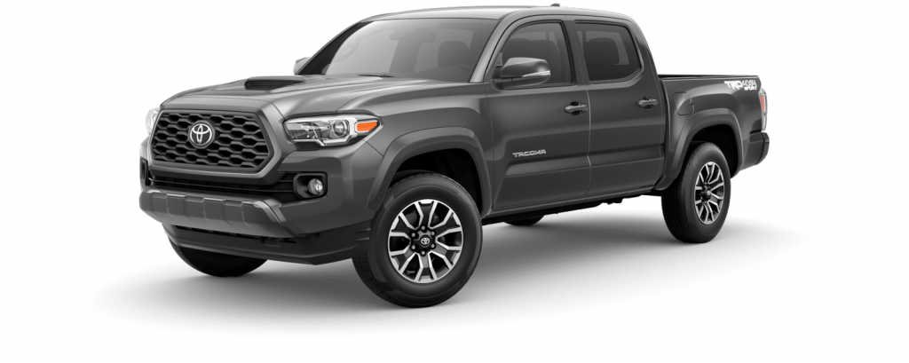 2021 Toyota Tacoma in magnetic gray