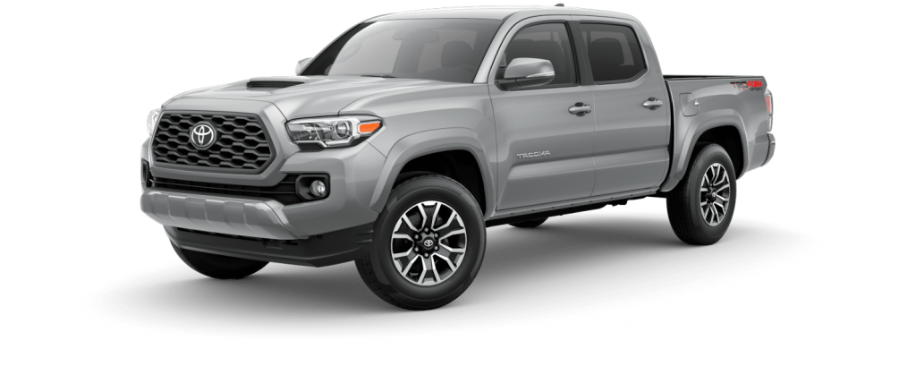 2021 Toyota Tacoma in silver sky