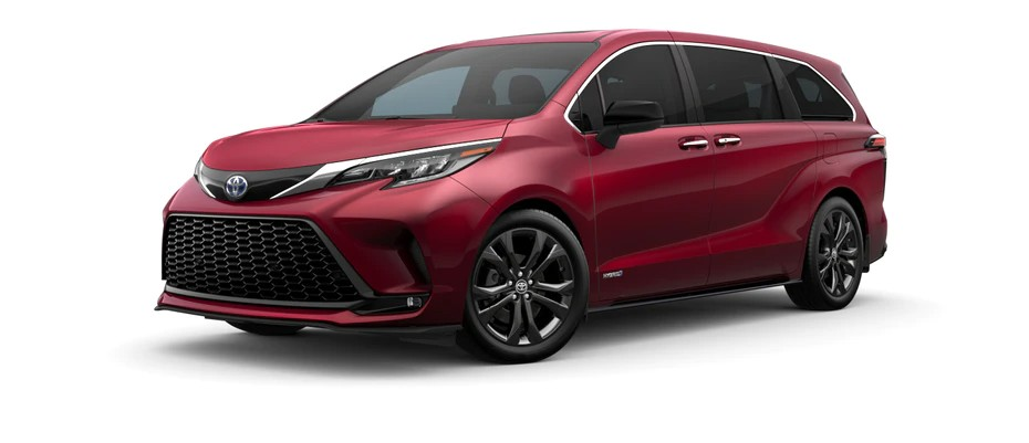 2021 Toyota Sienna in ruby flare