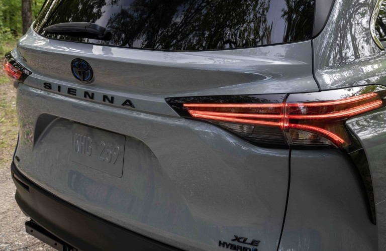 rear badging of the Sienna Woodland Special Edition