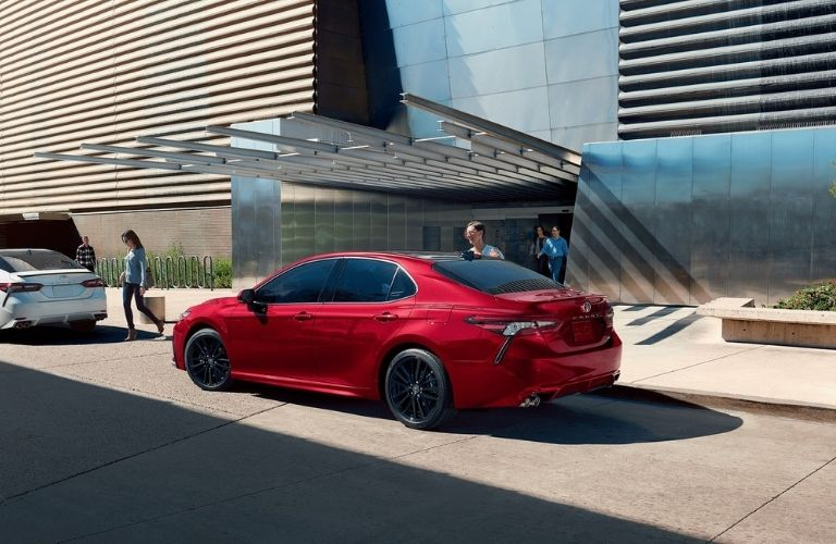 2021 Toyota Camry on the road
